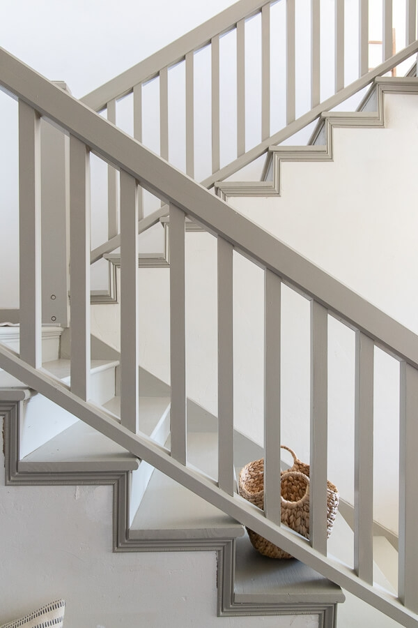 How To Paint Stairs And Railings Like A Pro With Wagner Paint   Painted Handrails For Stairs   Modern   German Style   House   Pressure Treated   Before And After
