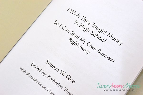 I Book Review: Wish They Taught Money in High School - So I Can Start My Own Business Right Away