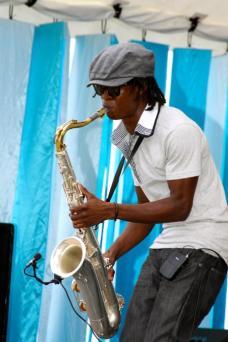 Photo Courtesy of Joseph Leo Callender Young saxophonist Joseph Callender was born and raised on the island of Barbados. His artistry reflects his love for life, a strong, classic tone, and smooth dynamics that certainly suggest he is a star on the rise. He received a scholarship from the Barbados Community College's Music Program, which first enabled him to travel to Toronto and experience the jazz program at Humber College. He has a number of original compositions which he showcased at Frank Collymore Hall in Barbados. He will study jazz music at Humber College in Toronto, Canada this fall.