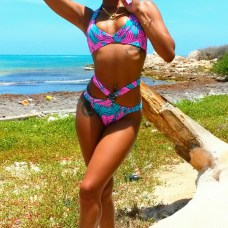 MiaKalani - Jamaica MiaKalani is the brainchild of Jamaican designer Brittany Johnson. She started her line by simply putting to use her mother's old sewing machine. Her swimsuits are vibrant, bold, and boast a chic, yet comfortable fit for every shape. Photo Courtesy of MiaKalani