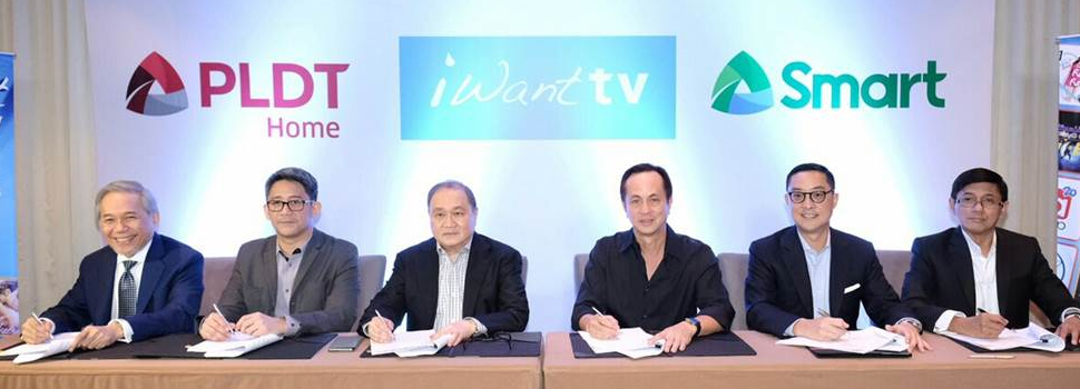 PLDT Home, Smart ink milestone partnership with ABS-CBN for iWantTV