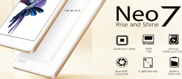 Oppo's Neo7 drops price from P7490 to P5990