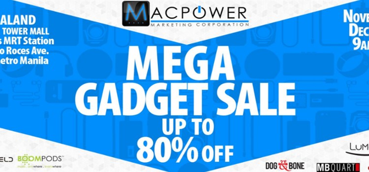 Macpower to hold Mega Gadget Sale from Nov. 29 to Dec. 1