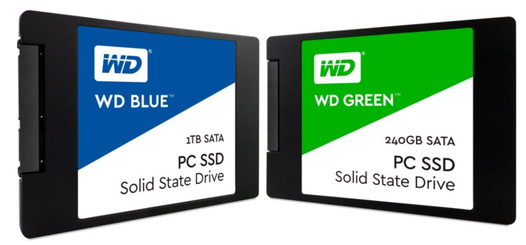 Western Digital Unveils WD Blue and WD Green Solid State Drives