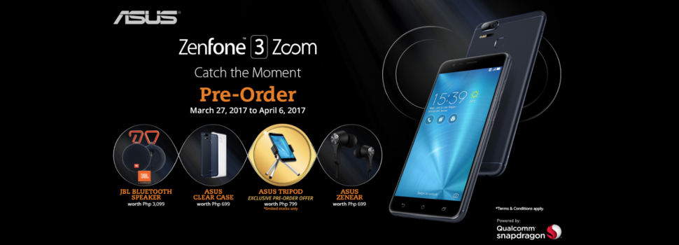 The ASUS ZenFone 3 Zoom is now available for Pre-Order! Order now until April 6