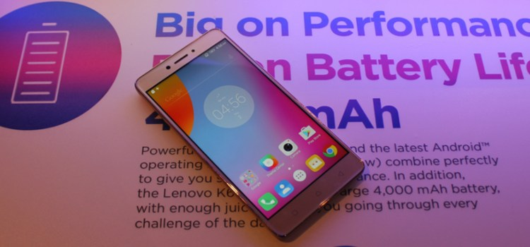 Lenovo launches the 5.5 inch K6 Note, featuring a large 4000mAh battery