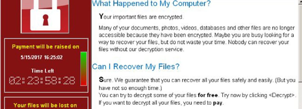 WannaCry Alert: How To Keep Your System Protected