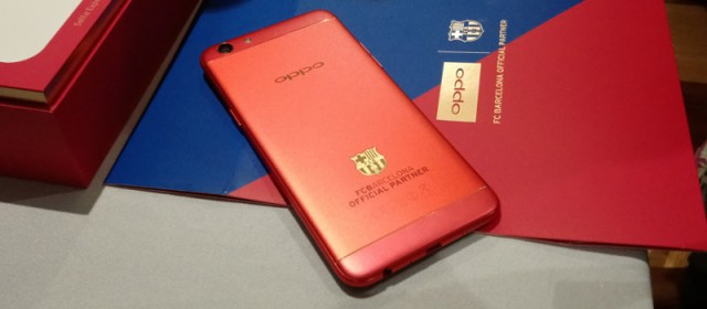 OPPO gives us a look at their stunning FC Barcelona-edition phones