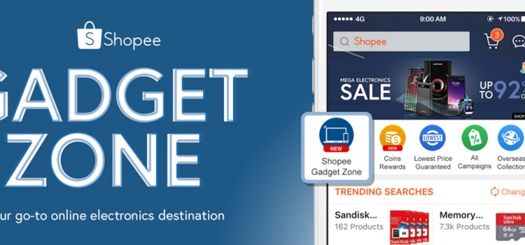 Shopee Launches Shopee Gadget Zone, Your Go-To Electronics Destination