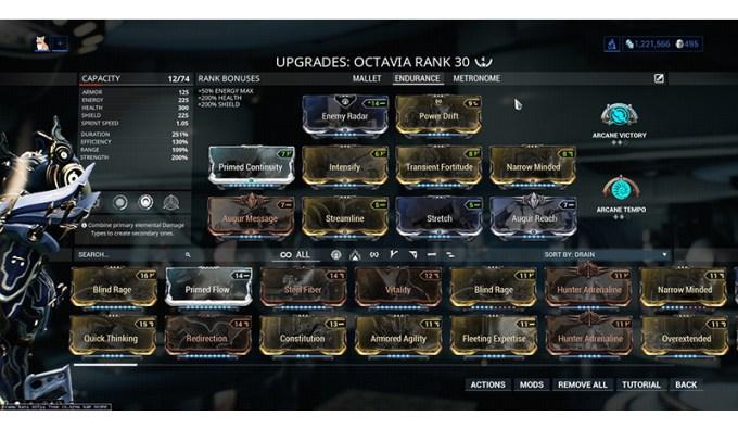 Octavia Warframe Builds