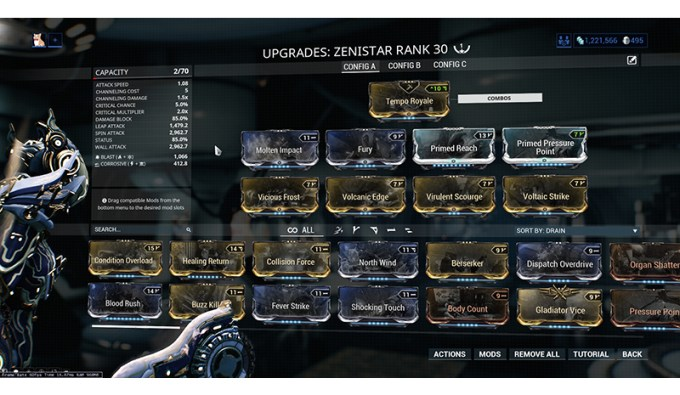Octavia Warframe Weapon Builds