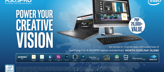 "ASUSPRO and Intel Launch the Exclusive ""Ultimate Creativity Pack"""