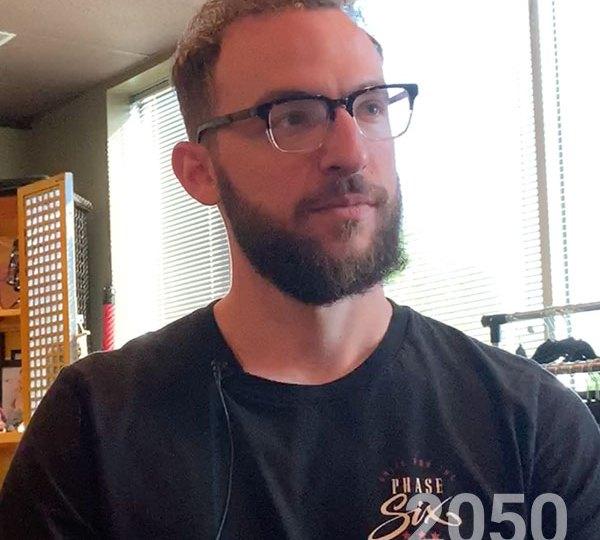 Erick Godsey in the studio
