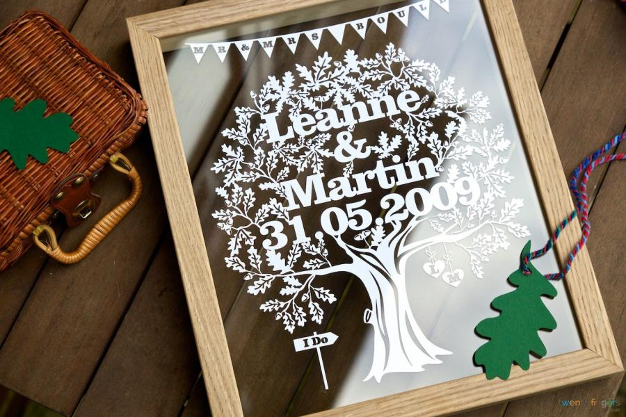 LOVE TREE PAPERCUT Personalised Wedding Gift