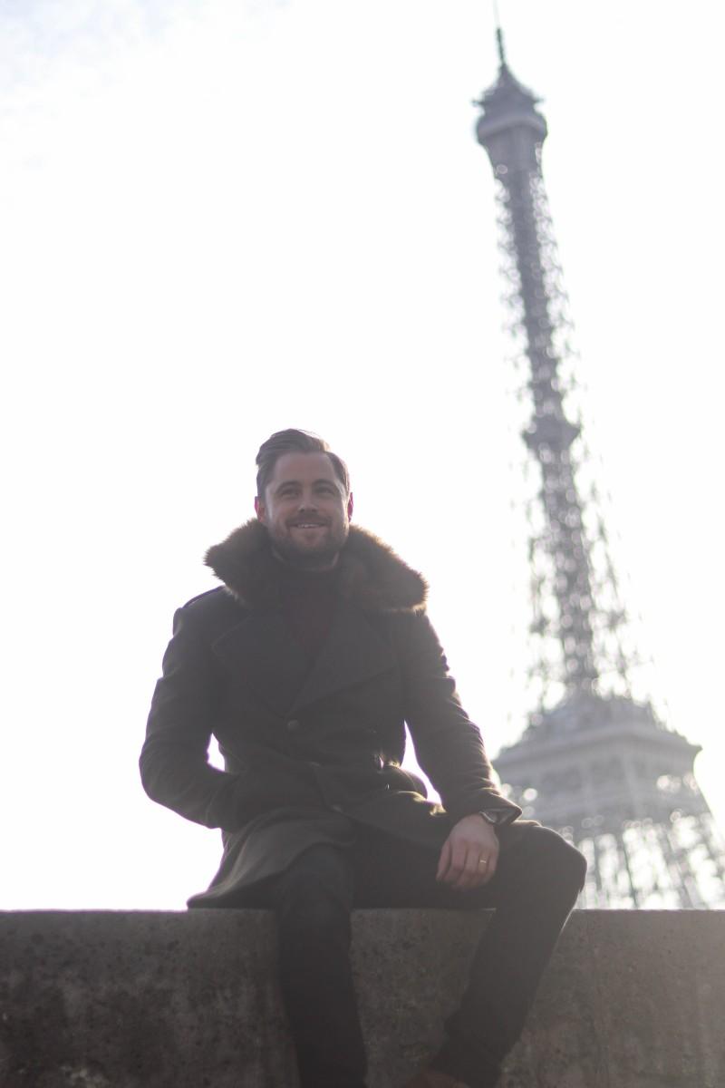 Zara Military Coat Eiffel Tower