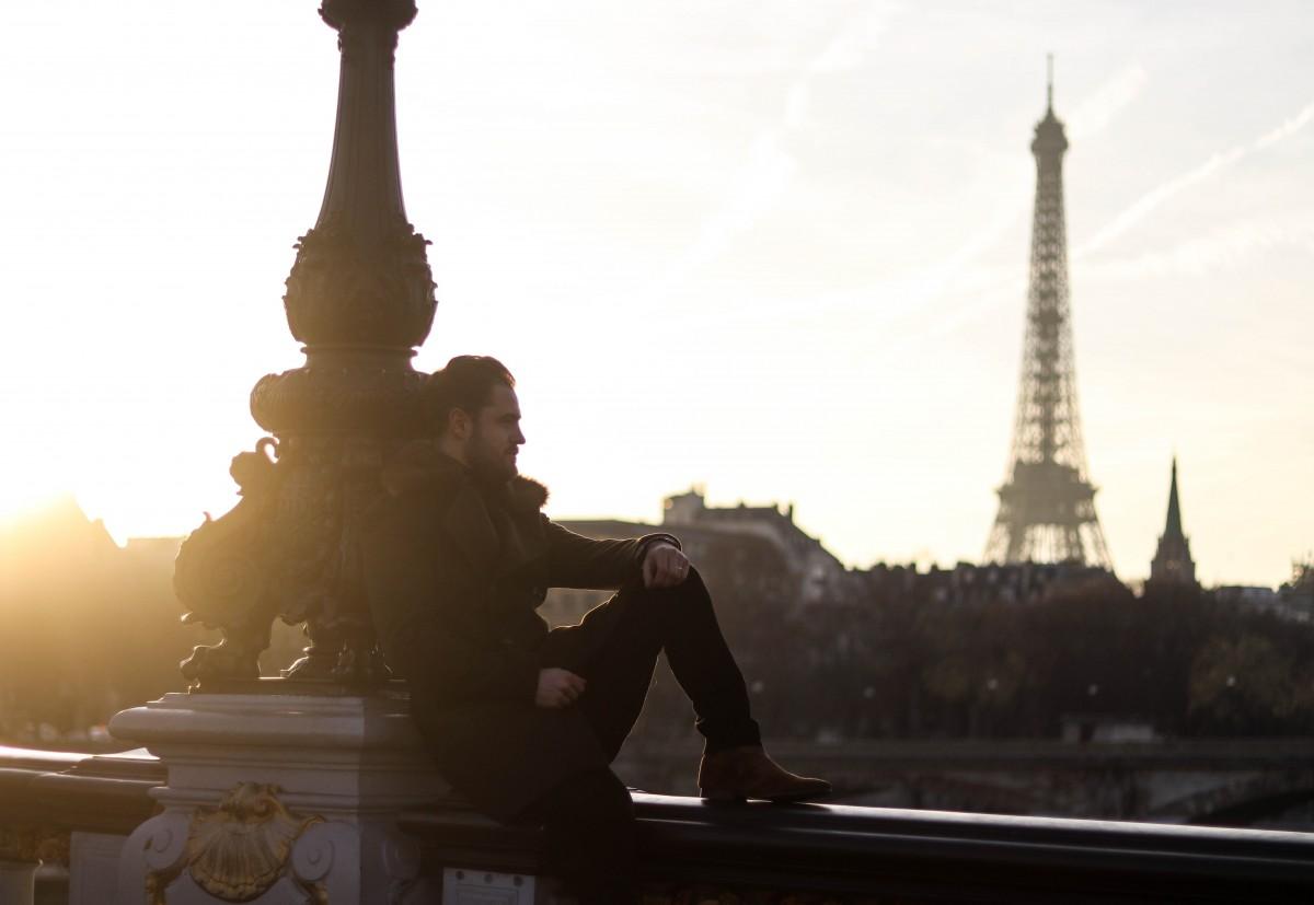 Eiffel Tower Ponte Alexandre III Sunset
