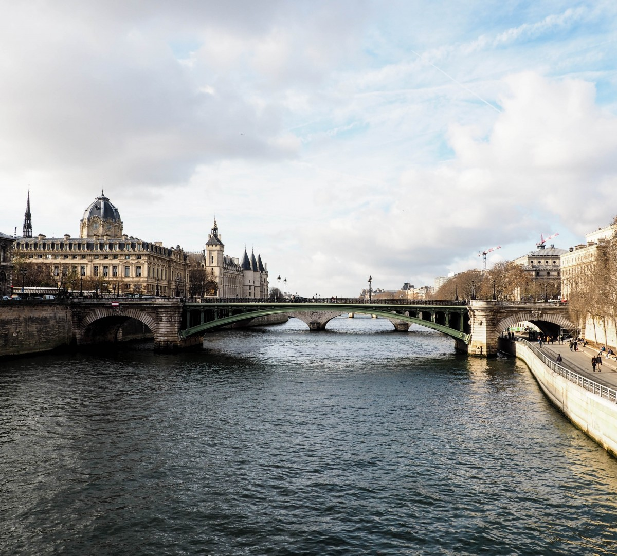 View from Notre Dame River Seine