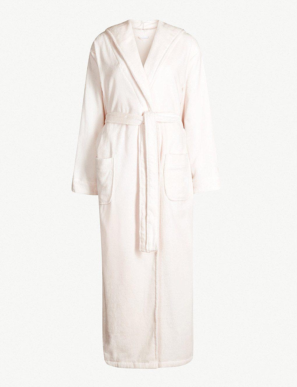White Company Velour Robe