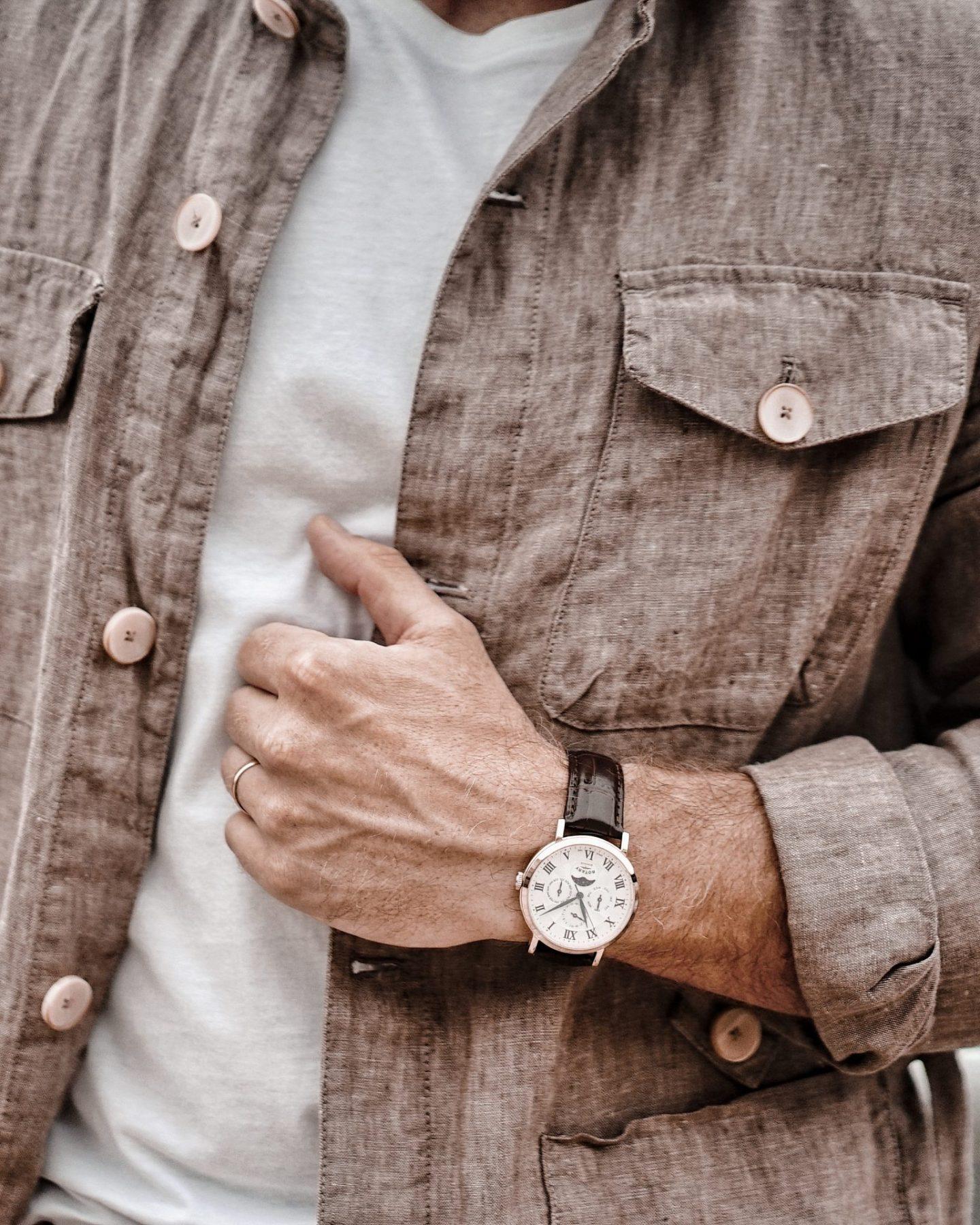 Mango Man Safari Jacket, Diesel Trousers, Menswear Style Fashion AW19 Lookbook Rotary Watch