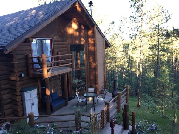 cabin in the Black Hills of South Dakota