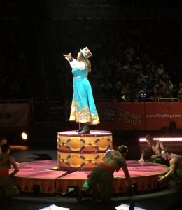 Kristen Michelle Wilson performing on Jan. 15, 2017 during the Circus Xtreme tour as the first female ringmaster.
