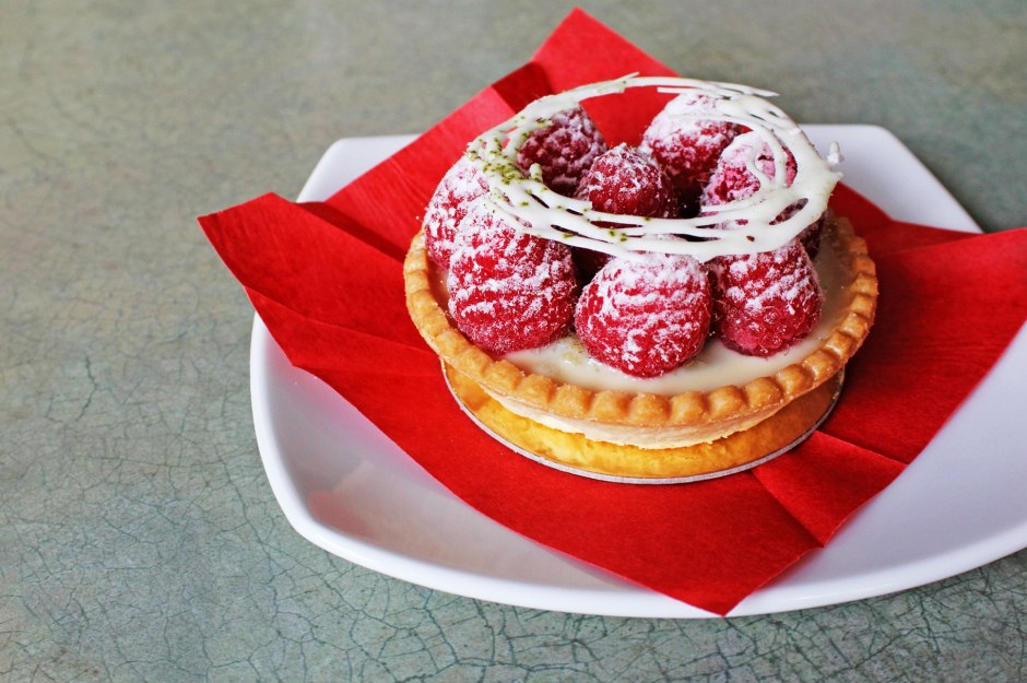 CIA Bakery Cafe's Raspberry White Chocolate Tart