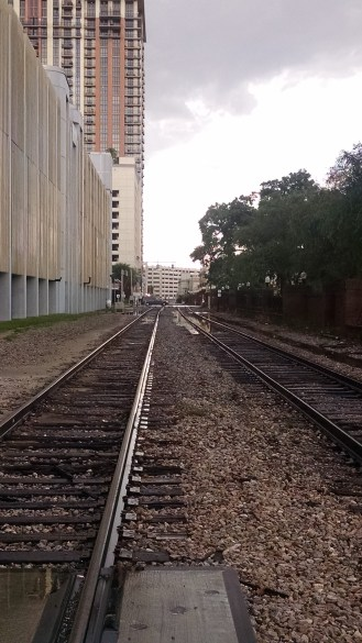 Twentysomething Vision Railroad Tracks Downtown