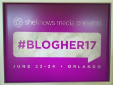 TwentysomethingVision BlogHer 2017 Conference Sign