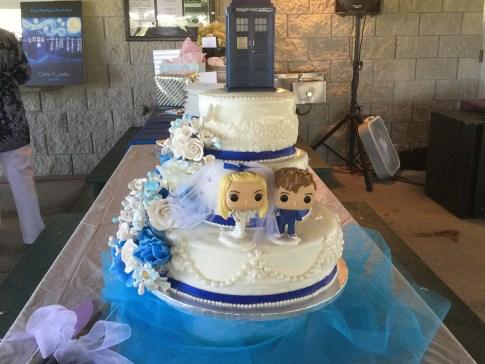 Doctor Who-Themed Wedding Cake