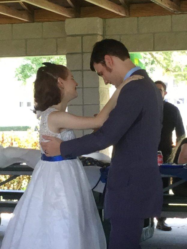 Doctor Who-Themed Wedding Bride and Groom Dance