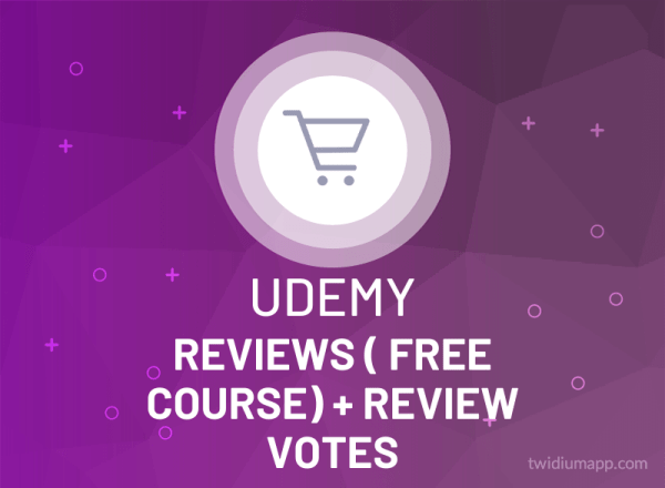 Buy Udemy Reviews (Free Course) + Reviews Votes