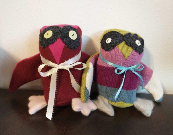 Handmade Upcycled Owl Plushie