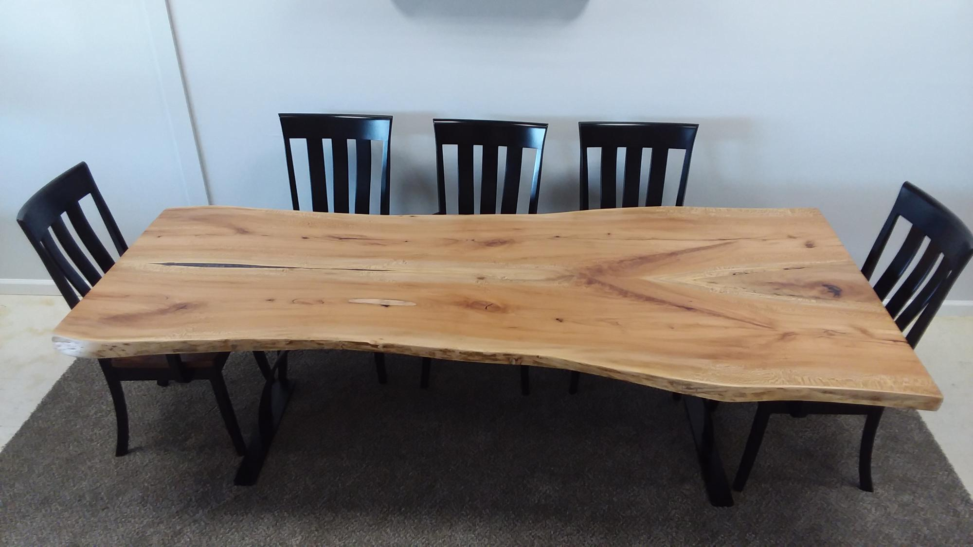 live edge slab tables twin brook