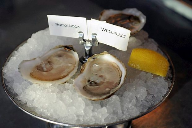 Rocky Nook and Wellfleet oysters are served at Meritage in St. Paul. (Pioneer Press: Scott Takushi)