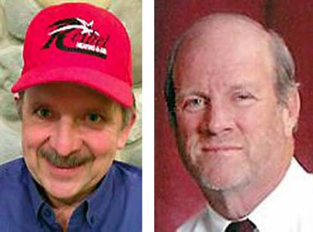 Brent Reibel, left, and Bill Voedisch