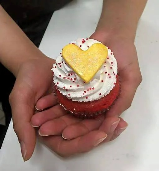 Nadia Cakes in Woodbury will sell a special red velvet Anya cupcake Thursday as a fundraiser in memory of Anya DeVol.