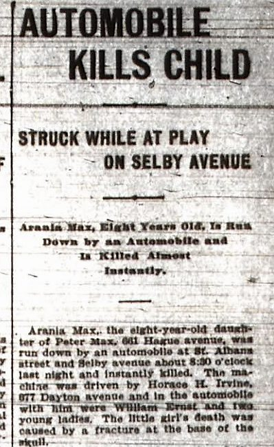 A segment of the front page of the Pioneer Press on May 29, 1903. (Pioneer Press archives)