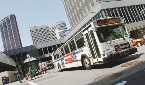 A Metro Transit bus.