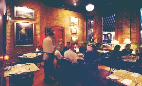 W.A. Frost is a special-ocasion restaurant that is especially nice this time of year, with wood-burning fireplace and cozy, classic turn-of-the-century setting. sd 11/28/03 (Photo by Jim Gehrz)