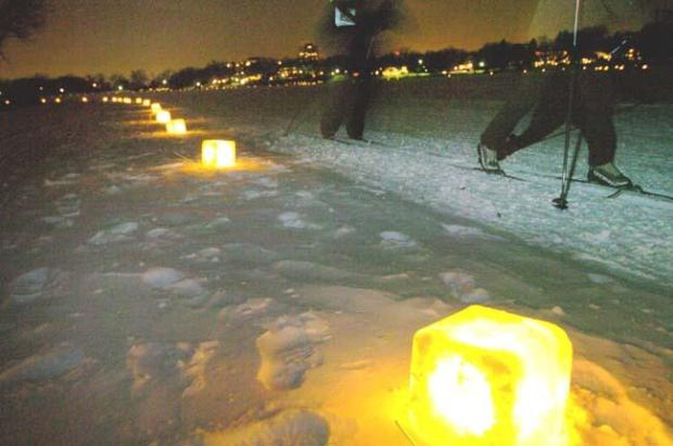 Participants in the 2007 Luminary Loppert endure 8 degrees below zero at Minneapolis' Lake of the Isles during the 2nd annual event on Feb. 3, 2007. (Pioneer Press archives)