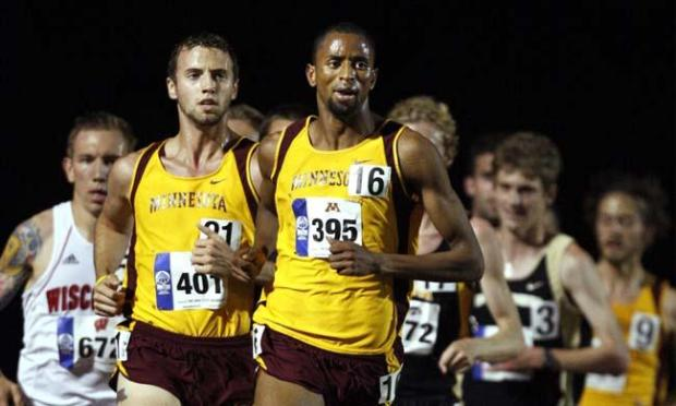 Hassan Mead competed in the 10,000 meter race and won in the Big Ten Championship in June 2009. Photo courtesy of University of Minnesota Athletics: Eric Miller.