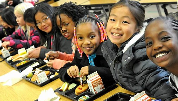 A lunch table is a study in diversity at Frost Lake Elementary on the East Side of St. Paul, on October 22, 2013. About 90 percent of Frost Lake pupils are students of color. (Pioneer Press: John Doman)