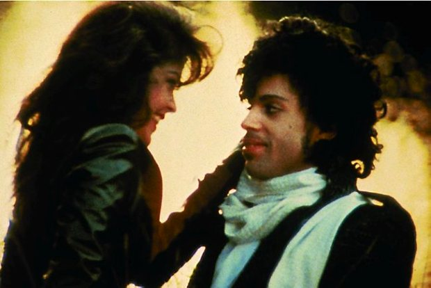 "Prince and Apollonia Kotero in 1984's ""Purple Rain."""