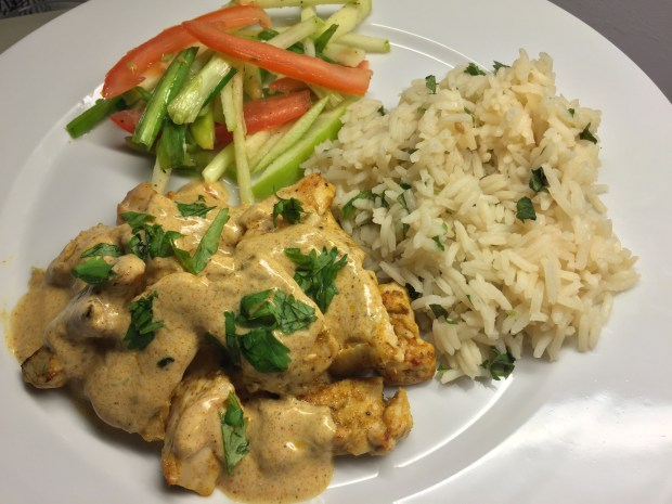 Tandoori chicken with julienned apple salad from HelloFresh (Pioneer Press: Nancy Ngo)