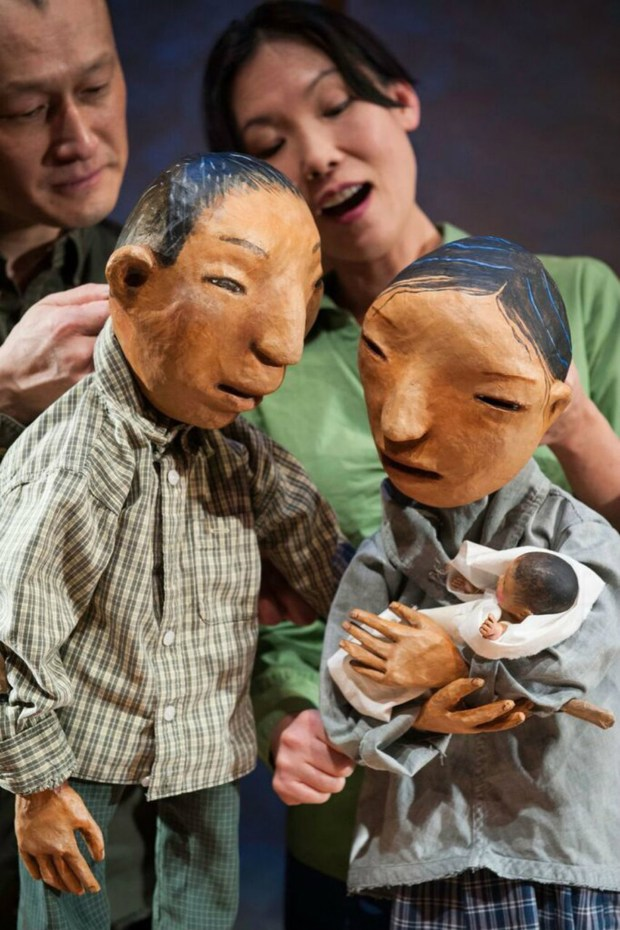 "Puppet artists and performers Masanari Kawahara and Momoko Tanno were featured in ""The Story of Crow Boy"" at Heart of the Beast in 2015. (Bruce Silcox)"