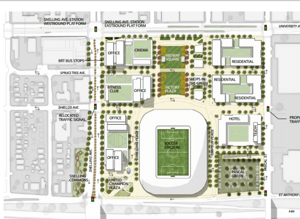 Proposed changes to the Midway neighborhood around a proposed soccer stadium.
