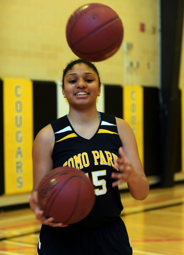 Como Park's Andrayah Adams is the Pioneer Press East Metro girls basketball Player of the Year, photographed in St. Paul, Monday, March 14, 2016. (Pioneer Press: Scott Takushi)