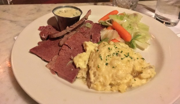 Corned beef and cabbage at Cork's Irish Pub in St. Paul. (Pioneer Press: Jess Fleming)