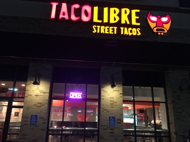 April 2016 photo of Signage for Taco Libre in West St Paul. (Pioneer Press: Jessica Fleming)