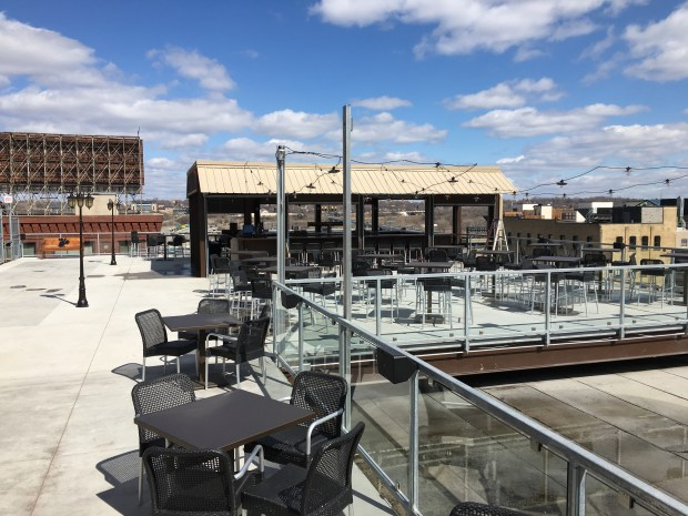 The patio at Ox Cart Ale House in St. Paul's Lowertown. (Pioneer Press: Jess Fleming)